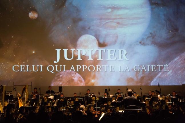 Les Planètes, Jupiter, le 06 janvier 2018 à Micropolis. © Chloé Stiefvater
