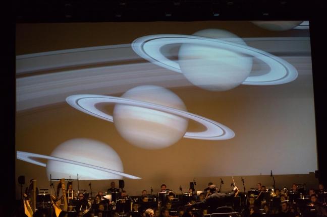 Les Planètes, Saturne, le 06 janvier 2018 à Micropolis. © chloé Stiefvater