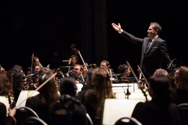 Jean-François Verdier et l'Orchestre Victor Hugo de Franche-Comté le 06 février à Micropolis. © Chloé Stiefvater